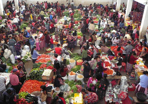 The market in Chichicastenango, Guatemala.  One of the most vibrant places on earth!