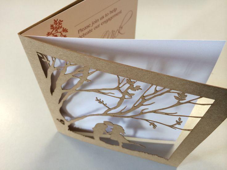 Laser Cut Invitation on craft board with insert sheet #lasercut #lasercutinvitation #invitation #weddinginvite #weddingstationery