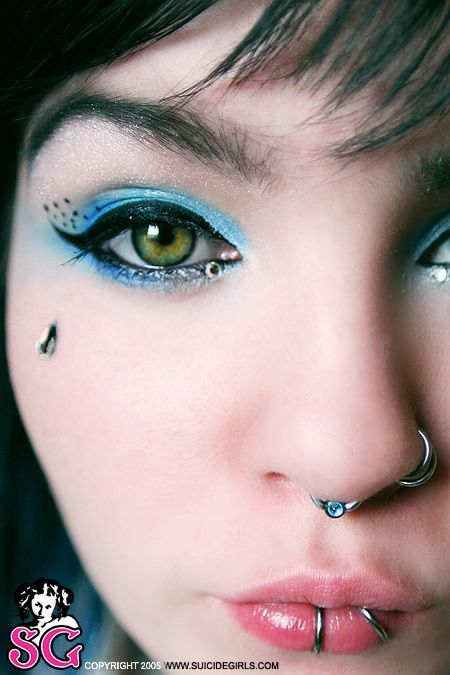 like all of the peircings except the dermal on the cheek, but I absolutely love the makeup