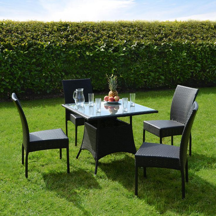 Outdoor Wicker Table And Chairs