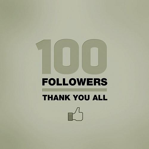 100 followers in insta!