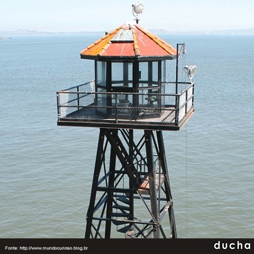 Baía de São Francisco – EUA, torre de vigia de Alcatraz
