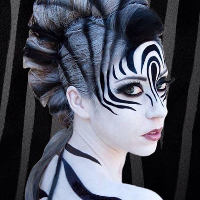 Wow! Amazing zebra costume!! @littleredwarrior1d #halloweenparty