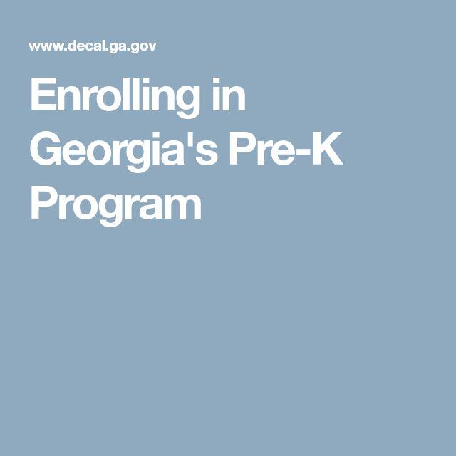 Enrolling in Georgia's Pre-K Program