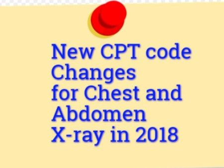 chest x ray cpt code 2018