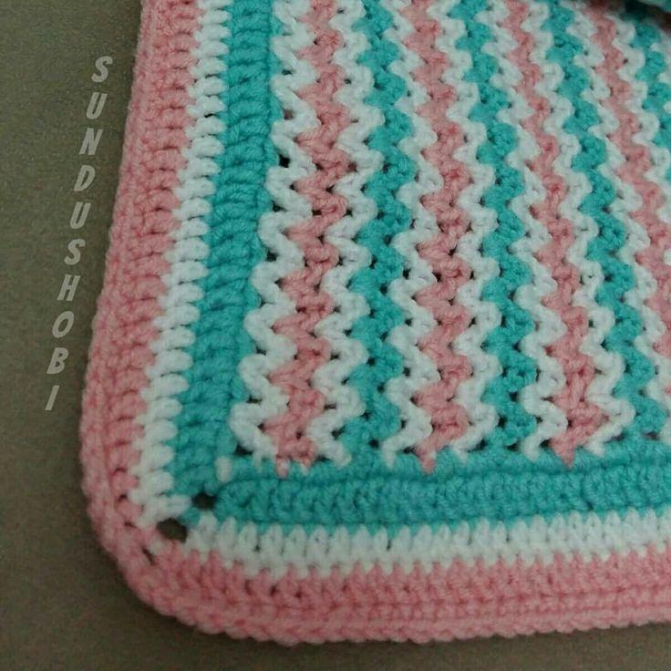 Baby blanket. Knitting blanket