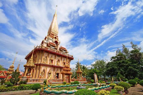 Wat chalong temple in phuket, thai.