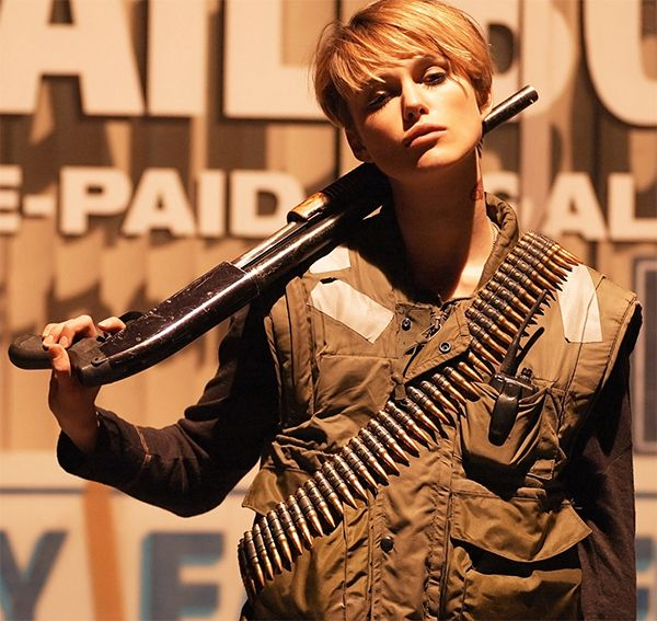 Keira Knightley as Domino Harvey. BADASSmovie