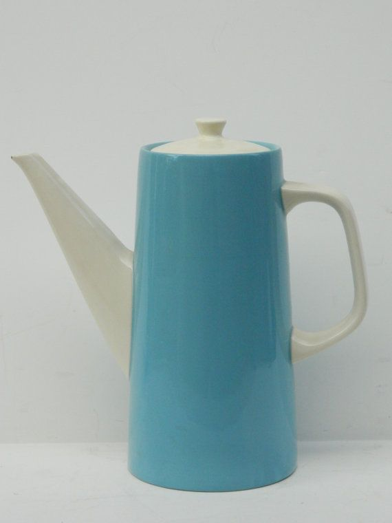 Mid Century Modern Blue and White Ceramic