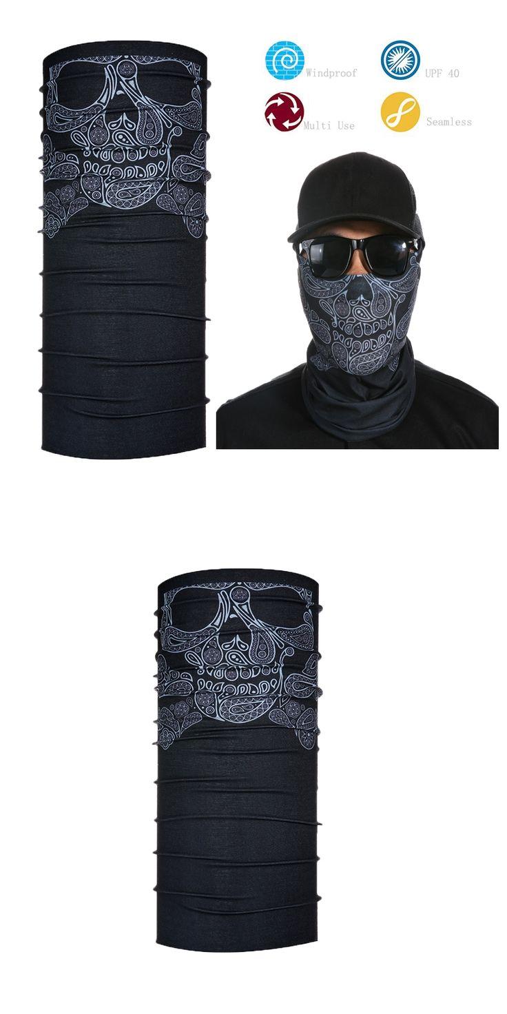 Free  shipping Cheap UPF -40 High Quality Tube Skull Face Mask Neck Gaiter Dust Shield Seamless skull  Bandana