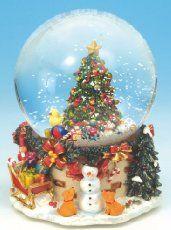 Spieluhrenwelt 47008 Boule à neige Sapin de Noël