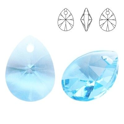 6128 Mini Pear 8mm Aquamarine 5 pieces  Dimensions: 8,0mm Colour: Aquamarine 1 package = 5 pieces