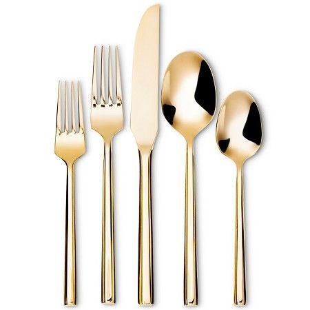 5-pc. Izon Flatware Set Gold