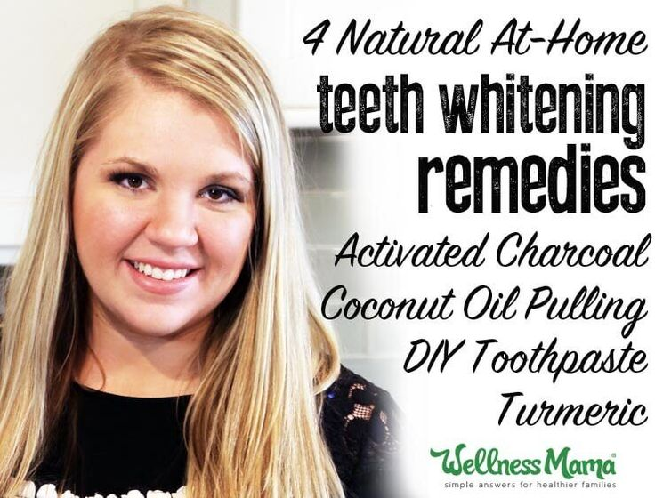 Natural teeth whitening remedies are simple and inexpensive (and work!): activated charcoal, coconut oil pulling, DIY toothpaste and turmeric.