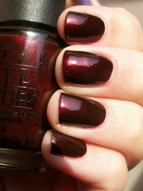 OPI Royal Rajah Ruby. In some lights, an irreproachable bronze. In others ...