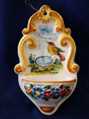 Italian Holy Water Font Bird Bath Baroque