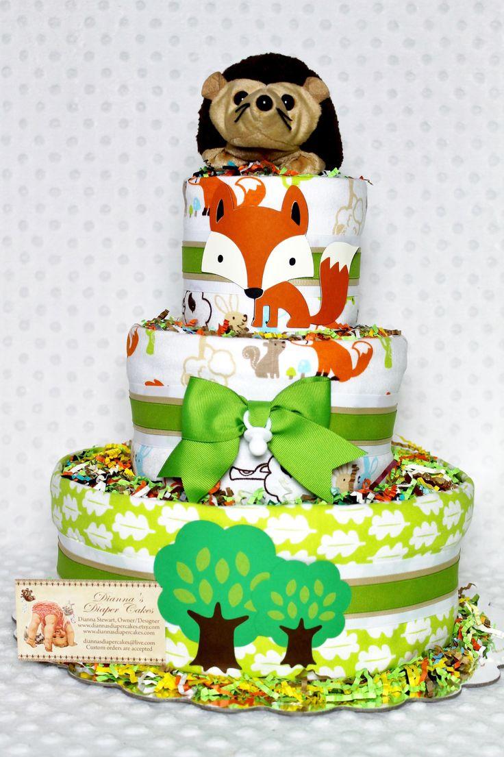 Woodland Animals Baby Shower Cake Ideas