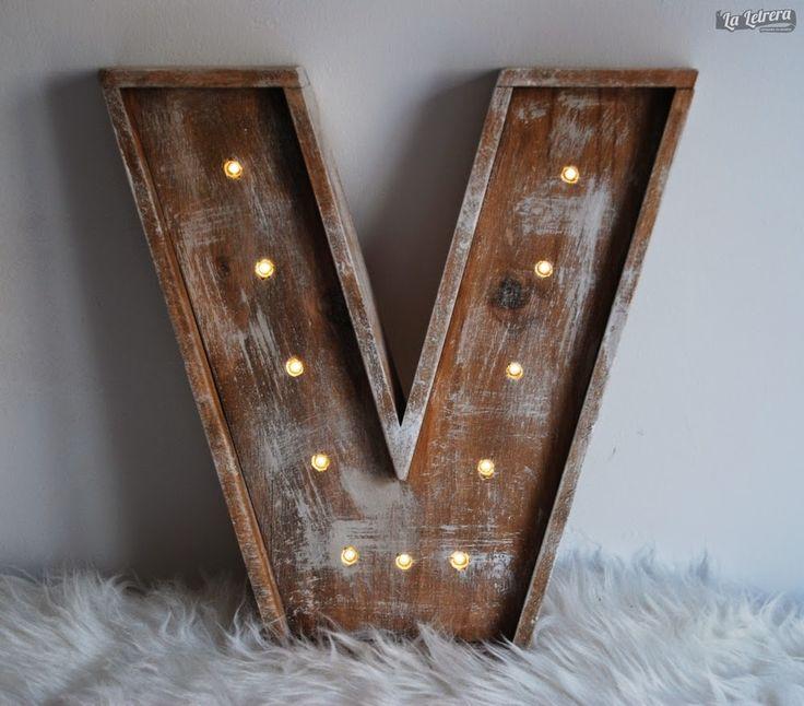 17 best images about letras luminosas on pinterest shops - Letras para decorar ...