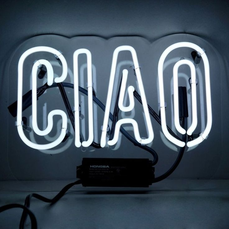 Ciao Neon Sign - Oliver Gal Art