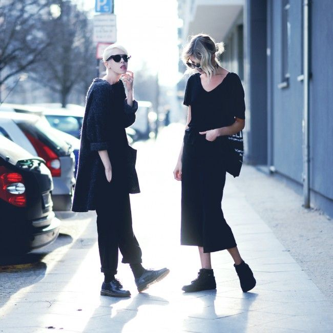 new #FASHION #post : 'let's #start a #band' | #hanging out with our #girl #ebbazingmark - - jennymustard.com - - #vegan #outfit #streetstyle #fashionphotography #fashionstylist #style #stylist #berlin #scandinavian #black #sunglasses #jennymustard #minimalist #Minimalism #minimal