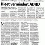 ADHD aangepakt door dieet