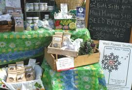 http://www.vacationthingstodo.com/farmers-market/  Display at Farmers Market, every friday in July and August, buy local goods