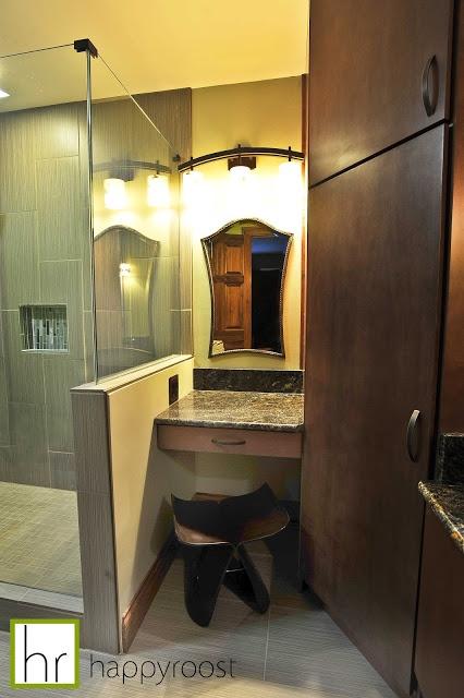 Vanity/makeup Area In Teenage Girlu0027s Bathroom. Contemporary Bathroom  Designed By Laura Quinn Of