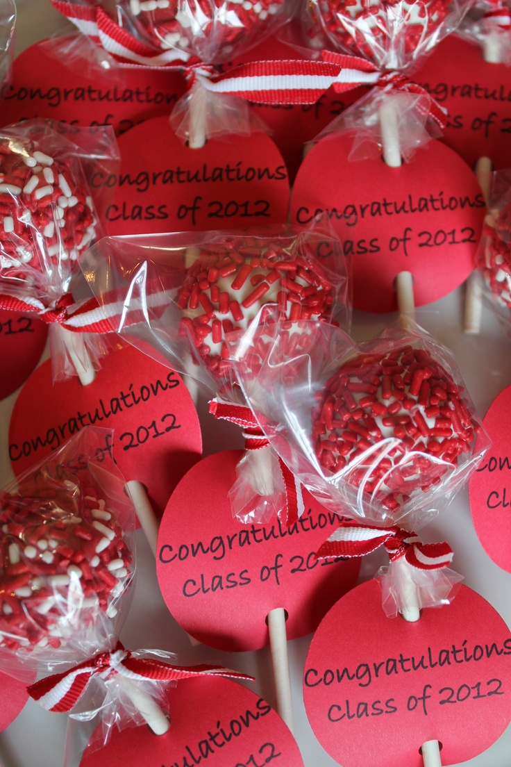High School Christmas Party Ideas Part - 19: Graduation Cake Pops
