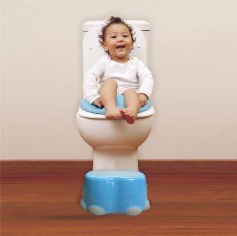 Step Stool Bumbo aiuta il tuo bambino a raggiungere lavabo e WC, robusto, leggero e sicuro, dotato di sistema antiscivolo.