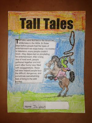 Tall tale unit activities and centers.