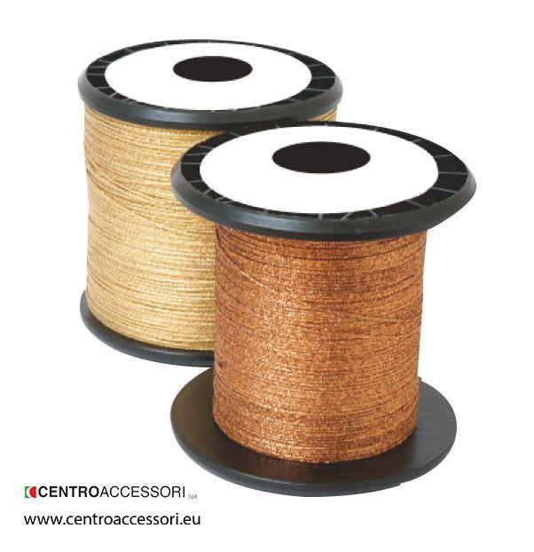 Treccia metallizzata. Metal plated braided yarn. #CentroAccessori