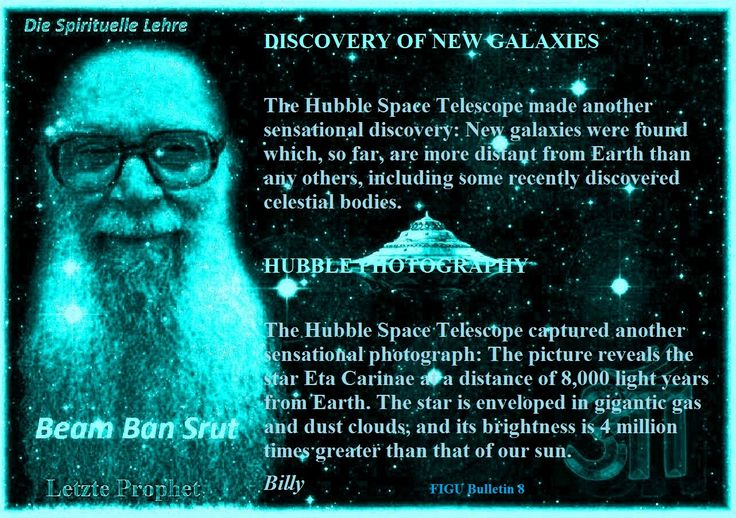 DISCOVERY OF NEW GALAXIES The Hubble Space Telescope made another sensational discovery: New galaxies were found which, so far, are more distant from Earth than any others, including some recently discovered celestial bodies.   HUBBLE PHOTOGRAPHY The Hubble Space Telescope captured another sensational photograph: The picture reveals the star Eta Carinae at a distance of 8,000 light years from Earth. The star is enveloped in gigantic gas and dust clouds, and its brightness is 4 million times…