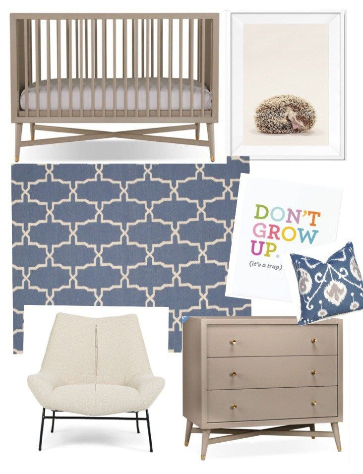 Gender neutral nursery that will grow with your child from infant to teen. All Available in Canada | Kristy Lentine Design Click to Shop