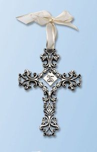 Amazon.com: 25th Anniversary Cross Ornament - Traditional 25th Wedding Anniversary Gift Idea: Home & Kitchen