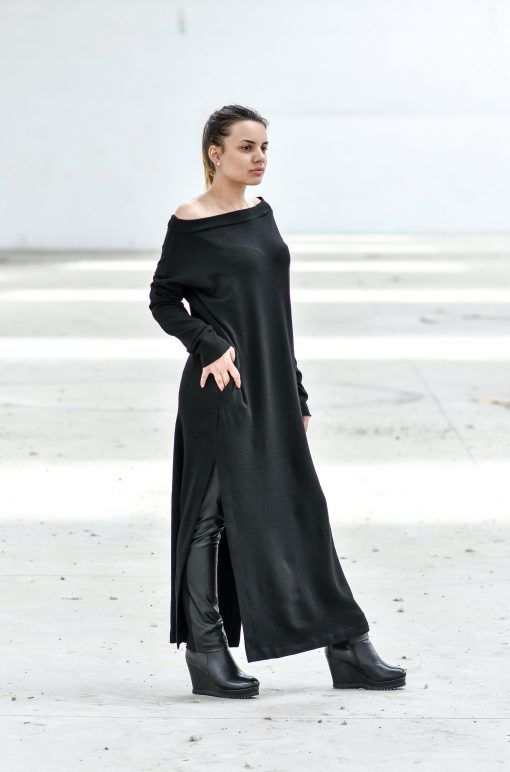 de5a894f34 Maxi Dress With Boat Neckline