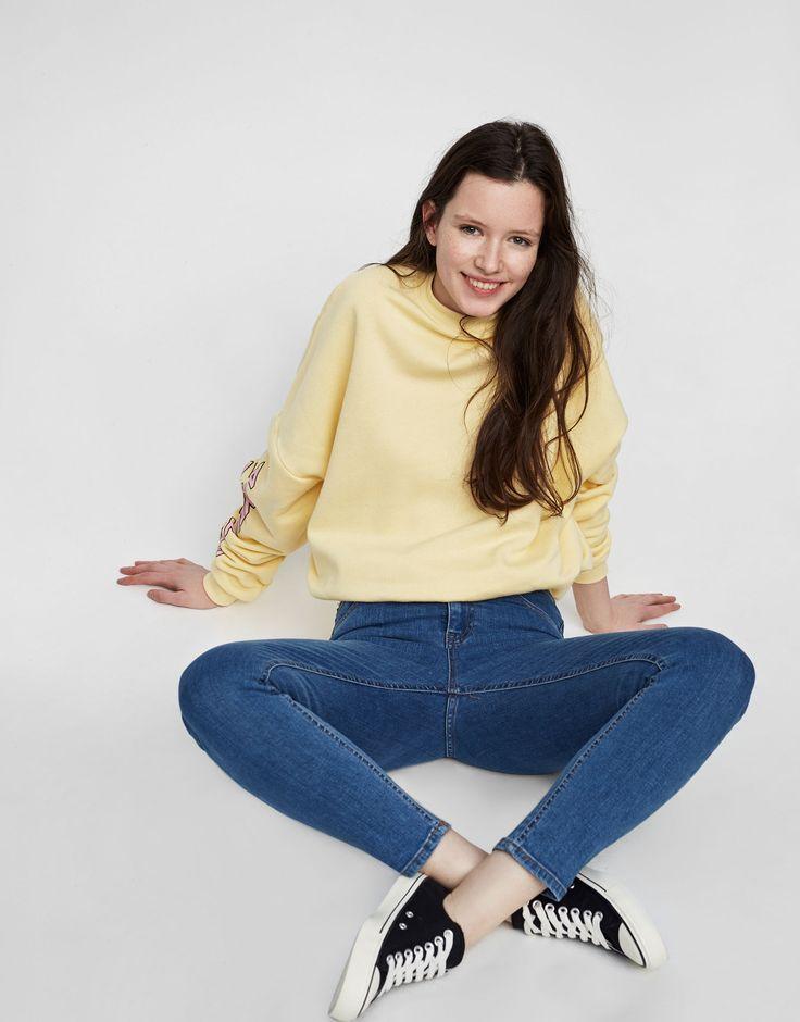 Pull&Bear - ženy - oděvy - nejprodávanější ❤ - basic high waist jeans - medium blue - 05683304-V2017