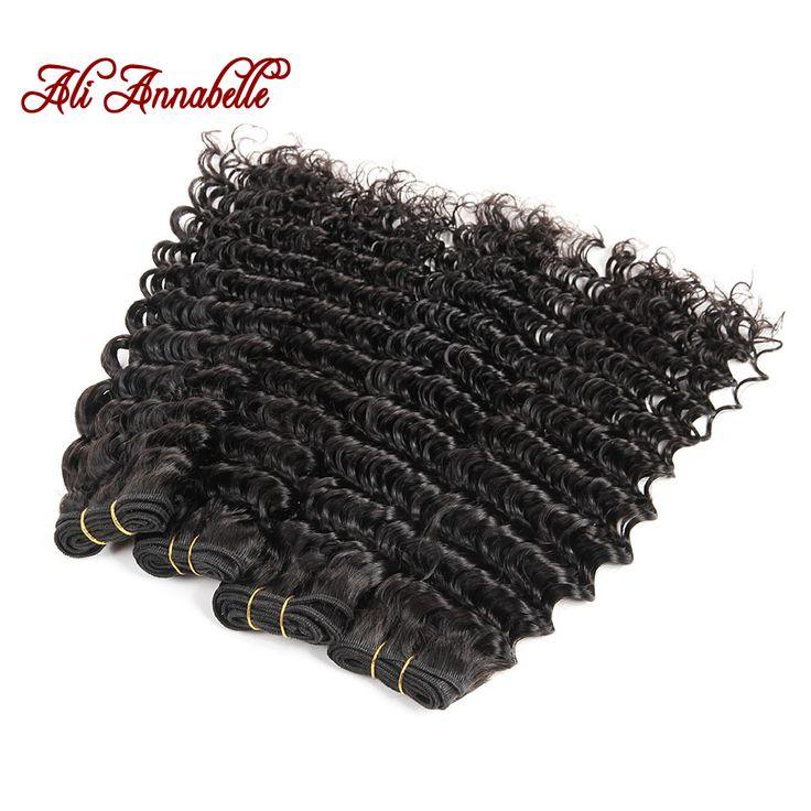 Ali Annabelle Malaysian Virgin Hair Deep Wave 4 Bundles Malaysian Deep Wave Cheap Human Hair Extensions Malaysian Deep Curly