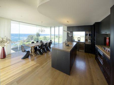Floorboards  Modern Galley Kitchen Design - Kitchen