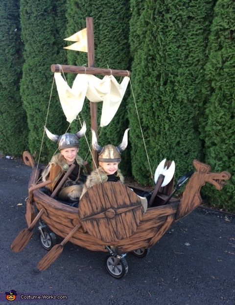 Two Vikings and a Ship - 2016 Halloween Costume Contest