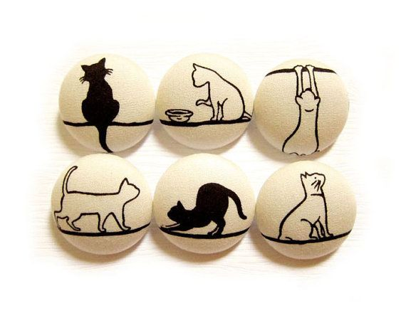 Cat covered buttons... Design!
