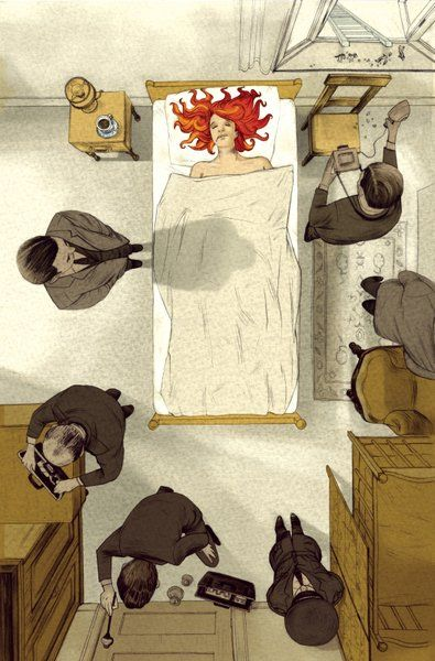 Cover Her Face by P. D. James, Illustrator - Jonathan Burton