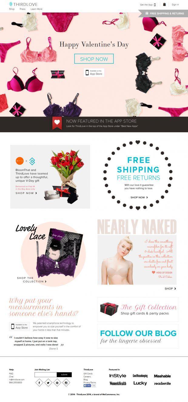 ThirdLove - Webdesign inspiration www.niceoneilike.com - ECommerce, Shop, html5, css3, Fashion, Inspiration, Underwear