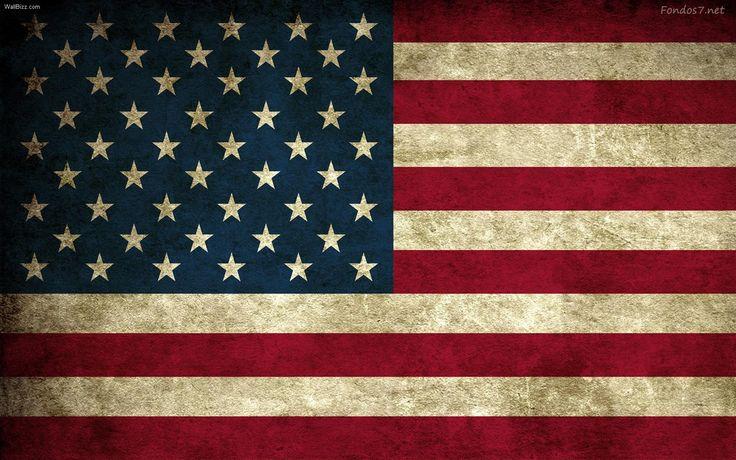 Bandera USA estilo grunge