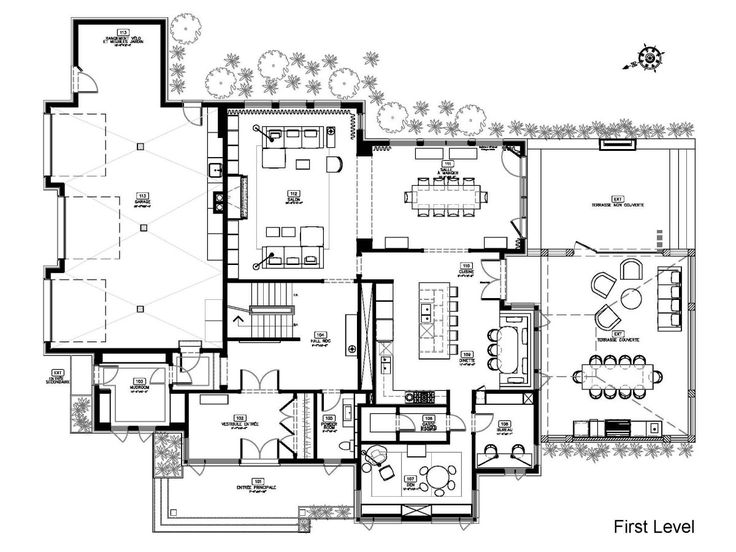 Modern house plans hd wallpapers download free modern for Modern open plan houses