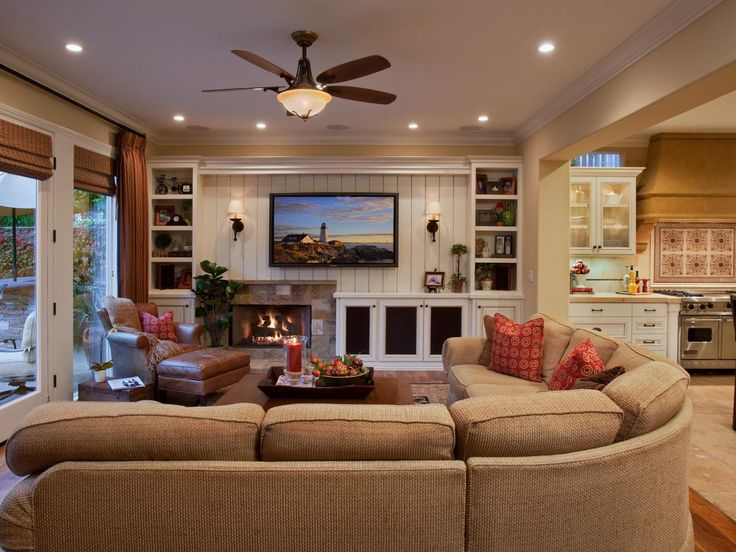 Everything About This Living Room Was Designed With Comfort In Mind A Large Sectional Sofa