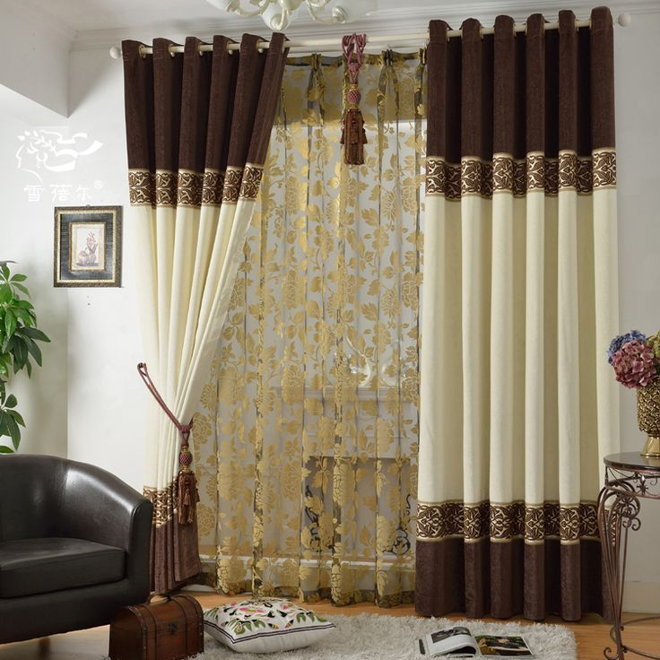 Free shipping Home window decoration Quality modern chinese style curtain chenille cloth bedroom curtains for window