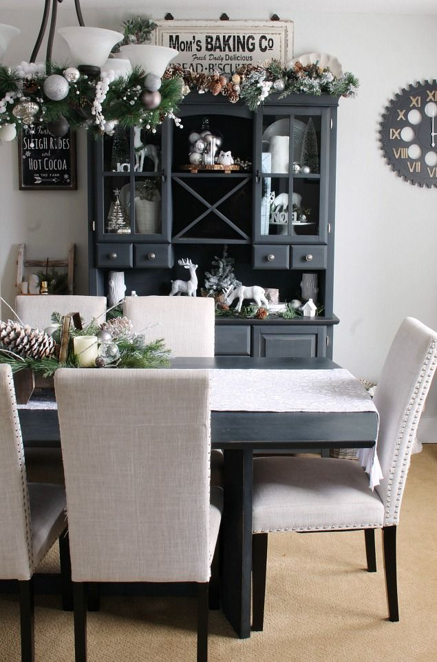 christmas dining room. beautiful ideas. Home Design Ideas