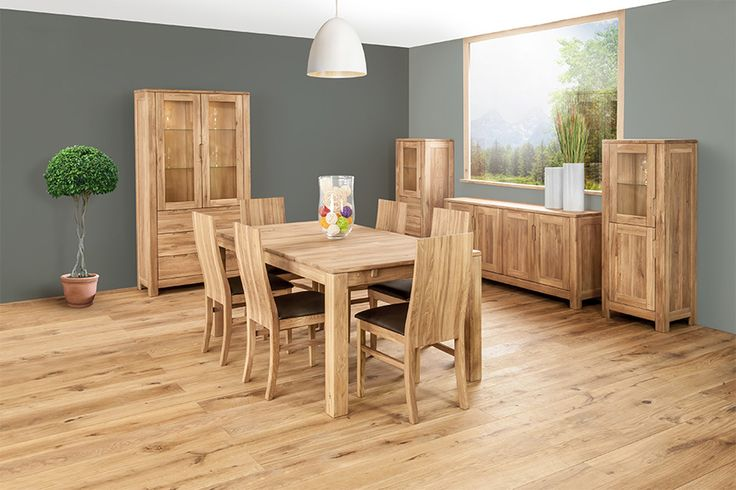 Specifically designed for compact living, this solid European oak range is available in several finishes, offering different heights in the cabinets to create easy living room sets. #SolidOak