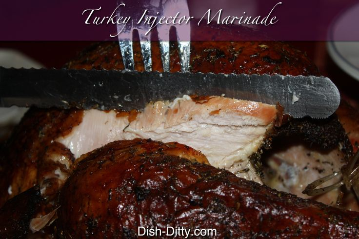 Never a dry turkey again, use this injector marinade for your turkey. Or hey, use it for your chicken too! Makes a tender tasty turkey or chicken.