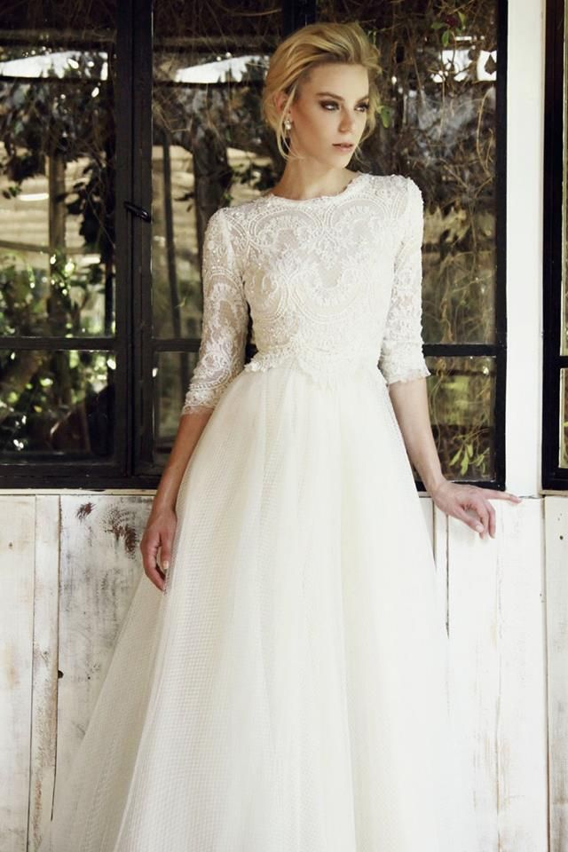 1324 best images about 3/4 sleeve wedding dresses. on Pinterest ...